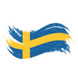 national flag of sweden designed using brush vector image