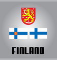 official government elements of finland vector image vector image