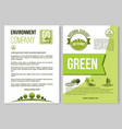 poster for nature environment ecology vector image vector image