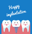 poster happy implantation concept for a banner vector image vector image