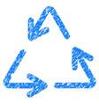 recycle arrows grunge icon vector image vector image