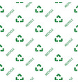 recycled paper green symbol pattern seamless flat vector image vector image