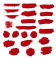 red blobs set vector image vector image
