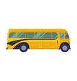 retro school bus side view back to school vector image vector image