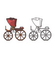 retro vintage carriage buggy for royal child vector image vector image