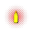 Rifle bullet icon comics style vector image vector image