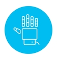 Robot hand line icon vector image