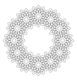 Round decorative geometric pattern vector image