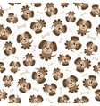 seamless pattern with brown dogs vector image vector image
