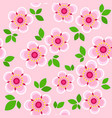 seamless pattern with spring flowers and leaves vector image vector image