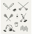 set cleaning emblems badges labels and vector image vector image