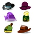 Set hats vector image