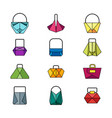 set of color bag vector image vector image