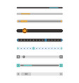 set of scrollbars set vector image vector image