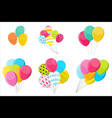 set simple holiday balloon isolated on white vector image
