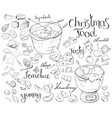 set with festive fondue isolated on white cheese vector image vector image