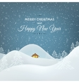 Snow mountains landscape Christmas card vector image vector image