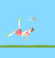 soccer overhead kick vector image