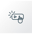 subscribe icon line symbol premium quality vector image vector image