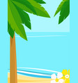summer landscape background with copy space vector image vector image