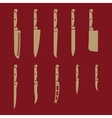 The knife icon set of 10 icons Knife and chef vector image vector image