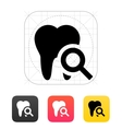 Tooth diagnostic icon vector image vector image