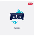two color turkish icon from commerce concept vector image