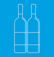 two wine bottles icon outline style vector image vector image