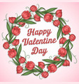 valentine flower i love you vector image