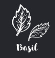 violet basil icon in black style isolated on white vector image