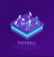vr soccer isometric composition vector image vector image