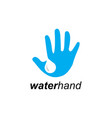 water and hand logo vector image vector image
