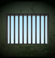 window with bars in a prison cell stock vector image