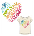 women tshirt print vector image vector image