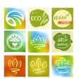 Set of logos avatars for natural environmentally vector image