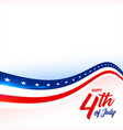4th july american flag style background vector image vector image
