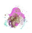 Abstract artistic element forming by blots vector image
