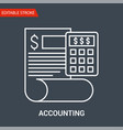 accounting icon vector image vector image