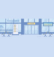 airport arrival exit entrance gate flat vector image vector image