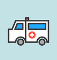 ambulance car hospital related icon vector image vector image