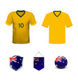 australia flag button with global soccer event vector image vector image