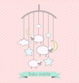 baby mobile with little lambs stars moon vector image