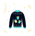 banner for ugly sweater party vector image vector image
