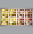 banners with gold and bronze gradient vector image vector image