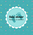 bashower card on green background vector image vector image