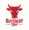 beef meat butchery vector image