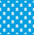 beekeeper pattern seamless blue vector image