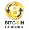bitcoin exchange logo on a white background vector image