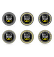 black friday sale round sticker with advertising vector image vector image