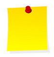 blank note yellow paper sticker with push pin vector image